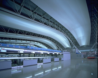 Large-space indirect lighting on the 4th Floor of Passenger Terminal Building